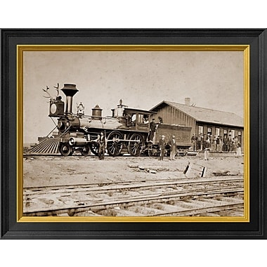 East Urban Home 'Wyoming Station Engine 23 on Main Track May 1868' Framed Photographic Print