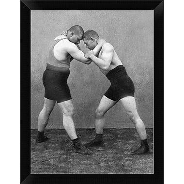 East Urban Home 'Wrestling Hold' Framed Graphic Art Print; 12'' H x 9'' W