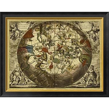 'Maps of the Heavens: Haemisphaerium Stellatum Australe Aequali' Framed Graphic Art Print