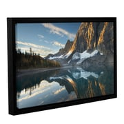 World Menagerie 'Floe Lake Reflection III' Framed Photographic Print; 32'' H x 48'' W x 2'' D