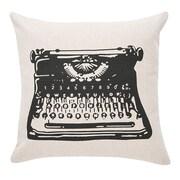 Williston Forge Dunbar Typewriter 100pct Cotton Throw Pillow