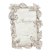 Ophelia & Co. Worn White Ornate Floral Metal Picture Frame