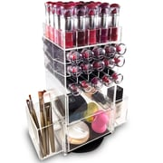Rebrilliant Acrylic 4 Shelf Makeup Palette Cosmetic Organizer