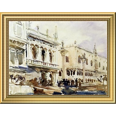 East Urban Home 'The Piazzetta and the Doge's Palace' Framed Oil Painting Print; 11'' H x 14'' W