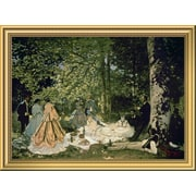 East Urban Home 'Luncheon on the Grass 1865-66' Framed Oil Painting Print; 14'' H x 18'' W