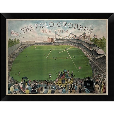 East Urban Home 'New York Polo Grounds' Framed Graphic Art Print; 9'' H x 12'' W