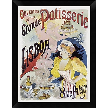 East Urban Home 'Cooks: Grande Patisserie Lisboa' Framed Graphic Art Print; 12'' H x 9'' W