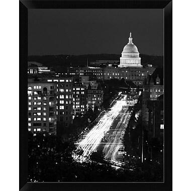 East Urban Home 'Dusk View of Pennsylvania Avenue America's Main Street' Framed Photographic Print