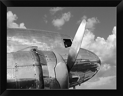 East Urban Home 'Propeller' Framed Photographic Print; 9'' H x 12'' W