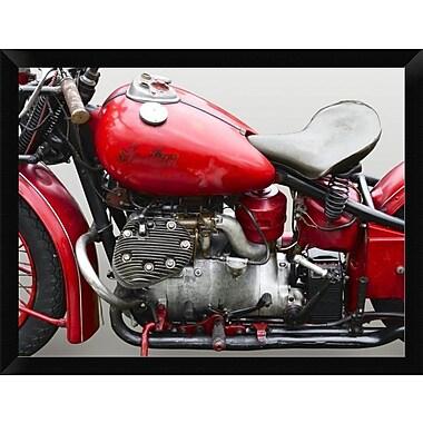 East Urban Home 'Vintage American Motorbike ' Framed Photographic Print; 12'' H x 16'' W