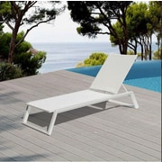 Ivy Bronx Melodie Chaise Lounge; White