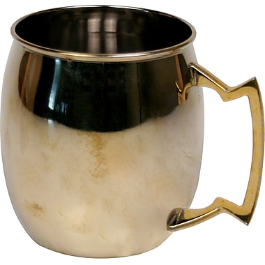 Mint Pantry Gino 16 oz. Moscow Mule Stainless Steel Mug; Shiny Gold