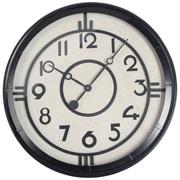 Brayden Studio Modern 24'' Round Black Wall Clock