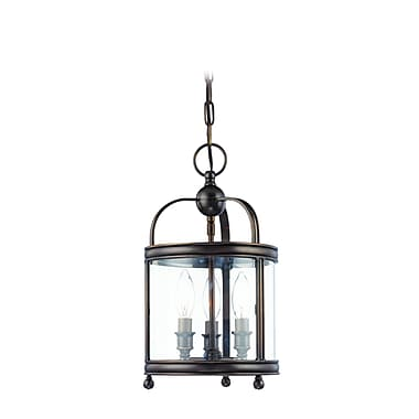 Darby Home Co Elyria 3-Light Metal Foyer Pendant; Distressed Bronze