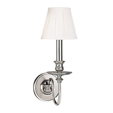 Darby Home Co Edwardsville 1-Light Wall Sconce; Polished Nickel