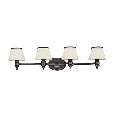 Darby Home Co Ellerbee 4-Light Vanity Light; Flemish Brass