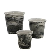 Selectives Vermont View 3 Piece Ceramic Pot Planter Set