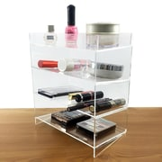 Rebrilliant Clear Acrylic 4 Shelf Makeup Palette Cosmetic Organizer