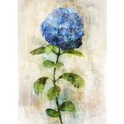 Ophelia & Co. 'Blue Floral I' by Joshua Acrylic Painting Print on Wrapped Canvas