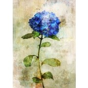 Ophelia & Co. 'Blue Floral II' by Joshua Acrylic Painting Print on Wrapped Canvas
