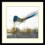 Alcott Hill 'Little Blue II' Framed Painting Print