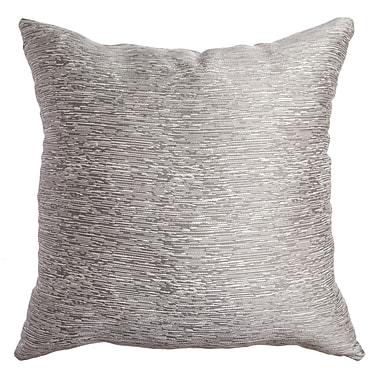 Alcott Hill Longview Solid Decorative Throw Pillow; Silver