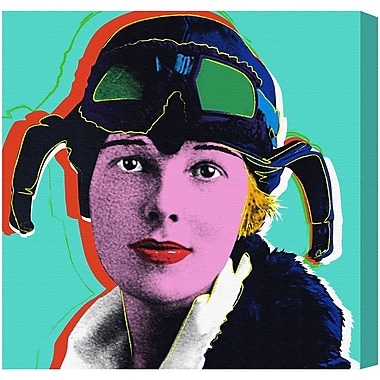 Ivy Bronx 'Amelia Earhart' Painting Print on Wrapped Canvas; 50'' H x 50'' W x 2'' D