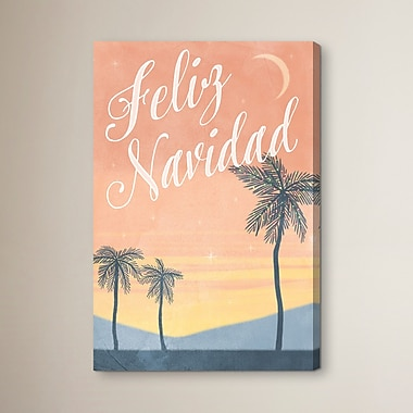 Ivy Bronx 'Feliz Navidad' Painting Print on Canvas; 45'' H x 30'' W
