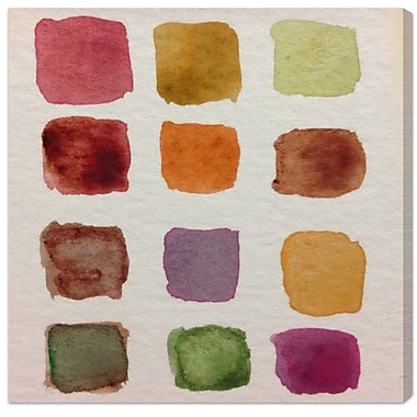 Ivy Bronx 'Fall Palette' Painting Print on Wrapped Canvas; 43'' H x 43'' W