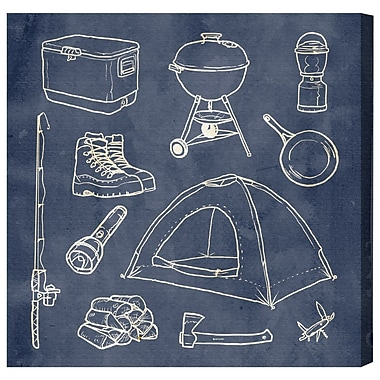 Loon Peak 'Camping Basics' Textual Art on Canvas; 16'' H x 16'' W x 1.5'' D