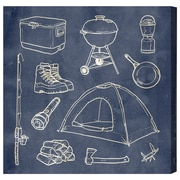 Loon Peak 'Camping Basics' Textual Art on Canvas; 43'' H x 43'' W x 1.5'' D