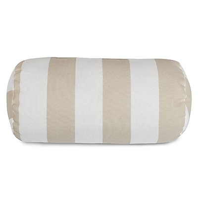 Longshore Tides Dazelle Indoor/Outdoor Round Bolster Pillow; Sand