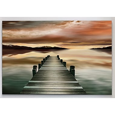 Latitude Run 'Sunset Jetty' Photographic Print on Wrapped Canvas; 32'' H x 48'' W