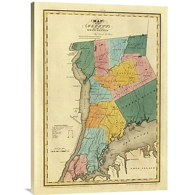 East Urban Home 'New York - Westchester County, 1829' Watercolor Painting Print on Canvas