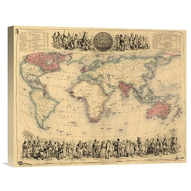 East Urban Home 'British Empire Throughout the World' Watercolor Painting Print on Canvas