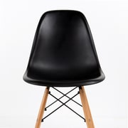 George Oliver Belvidere Solid Wood Dining Chair; Black