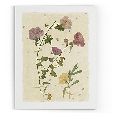 Gracie Oaks 'Pressed Morning Glory' Oil Painting Print on Wrapped Canvas; 20'' H x 16'' W