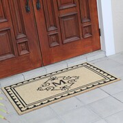 Fleur De Lis Living Bradford Anti Shred Treated Non-Skid Entry Monogrammed Double Doormat; M