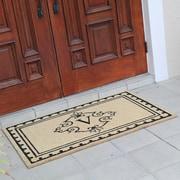 Fleur De Lis Living Bradford Anti Shred Treated Non-Skid Entry Monogrammed Double Doormat; V