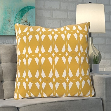 Ivy Bronx Aerin Geo-Craze Geometric Print Floor Pillow; Gold