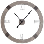 Union Rustic Oversized 42'' Round Brown Wood Wall Clock