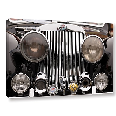 Williston Forge 'Triumph Roadster Front End Color' Photographic Print on Wrapped Canvas