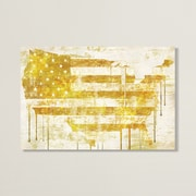 Williston Forge 'American Dream I' Graphic Art on Wrapped Canvas; 18'' H x 26'' W x 1.5'' D