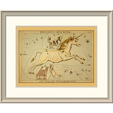 East Urban Home 'Monoceros, Canis Minor, and Atelier Typographique' Framed Print