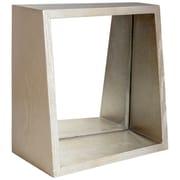 Brayden Studio Square Wood Wall Mirror; Light Brown