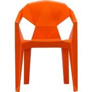 Orren Ellis 3D Stacking Chair (Set of 2); Orange