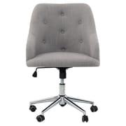 Orren Ellis Ginger Tufted Swivel Mid-Back Desk Chair; Gray