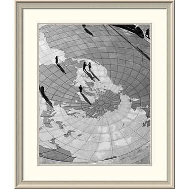 East Urban Home 'U.S. Navy Memorial, Washington, D. C. - Black and White Variant' Framed Print