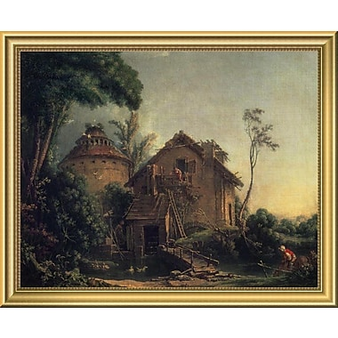 East Urban Home 'Country Home' Framed Oil Painting Print; 14'' H x 18'' W