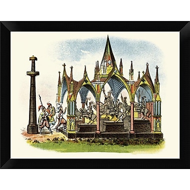 East Urban Home 'The Seven Silver Statues' Framed Oil Painting Print; 9'' H x 12'' W